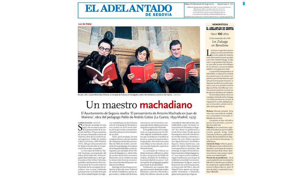 Comienza la serie machadiana del maestro Pablo de A. Cobos