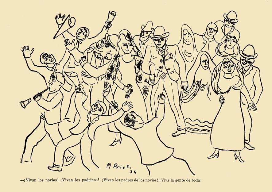 Ilustración de Estampas de Aldea - El día de la boda - Arqueología de Imágenes