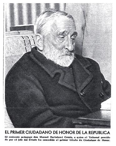 Manuel Bartolomé Cossío, pedagogo español, fallecido en Collado Mediano, Madrid, el 2 de septiembre de 1935.