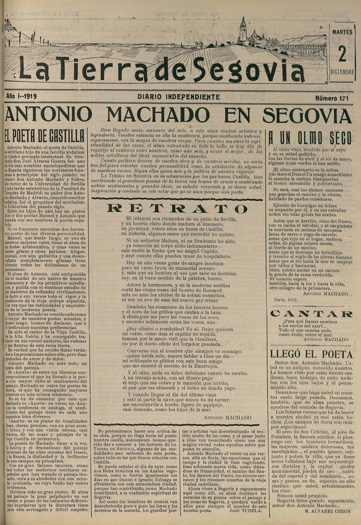 PAG 1 LA TIERRA DE SEGOVIA - Antonio Machado en Segovia. Vida y Obra